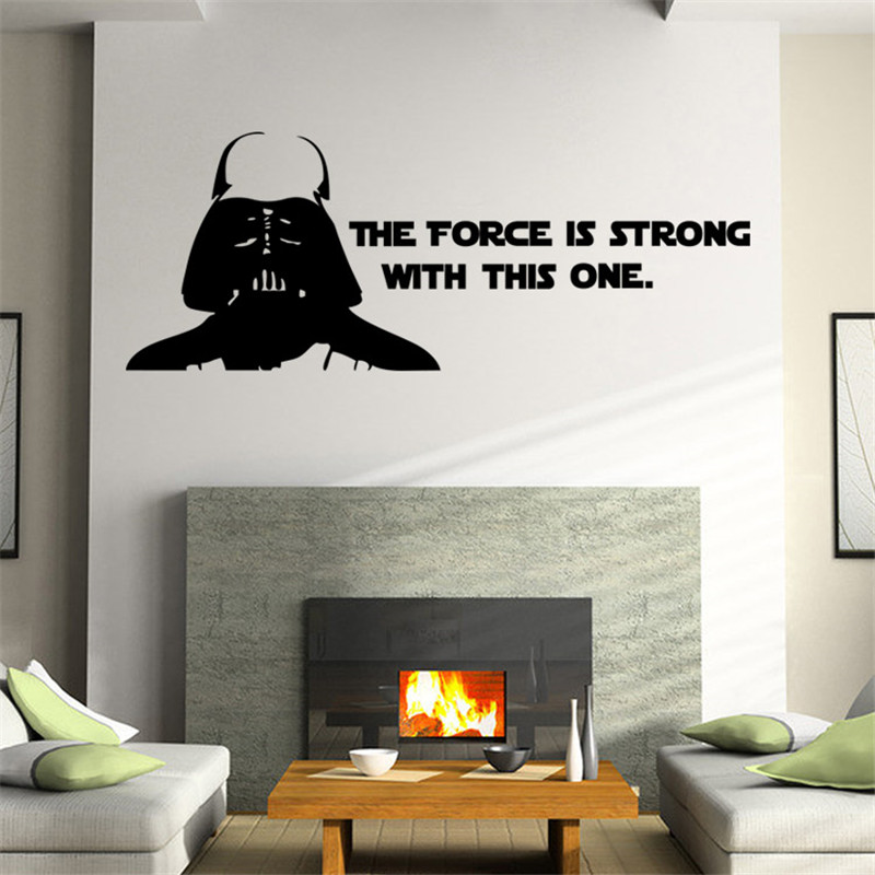 Aliexpress.com : Buy Star Wars Wall Stickers Poster The Force Is Strong Wall  Art Stickers Decals For Kids Room Home Decoration Boyu0027s Gift From Reliable  ... Part 87