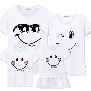 Image 5 - family matching clothes Mother daughter dresses outfits cotton casual T shirts family Look cotton mother father son clothing