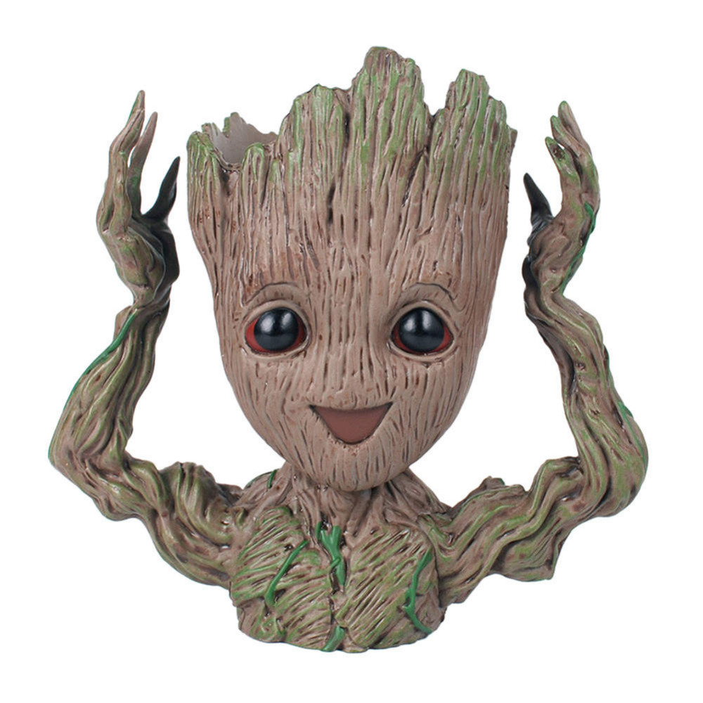 Baby Groot Flowerpot Flower Pot Planter Action Figures Tree Man Cute Model Toy Pen Pot Garden Flower Planter Pot Kids Gifts