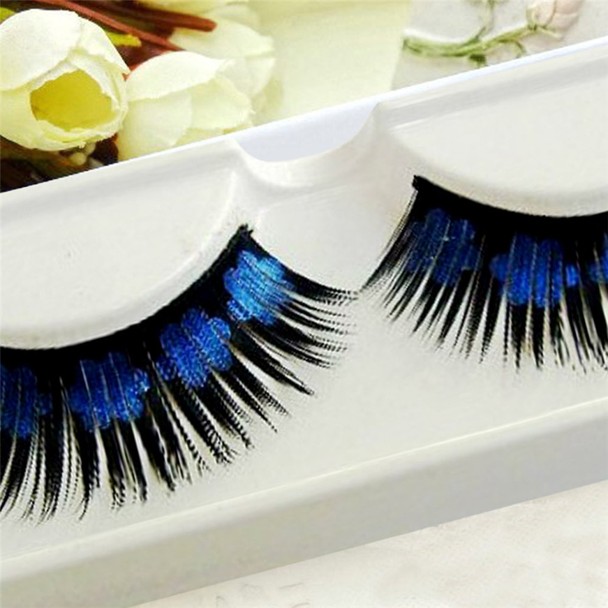 2017 A# Hot eyelashes Women Halloween Stage Party Makeup Artistic Plum blossom False Eyelashes G