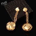 Nigerian Wedding African Beads Jewelry Dubai Gold Plated Long Drop Earring For Women Romantic Rose Flower