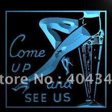 LK333-Сексуальная ног Come Up видеть нас Бар Пивной светодиодный знак неонового света