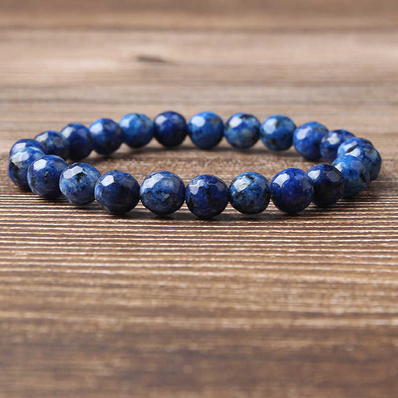 LanLi 8mm Various colors of natural chalcedony loose bead bracelet series Charms Men Strand Beads Yoga Women Bracelets