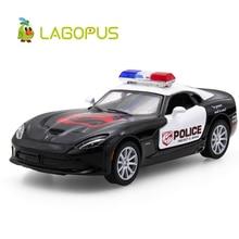 цена на Lagopus SRT Viper GTS 1:32 Alloy Diecast Model Car Toy Police Car Collection for Boy Children As Gift