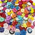 10/50/100 штук в упаковке микс разбирают Пластик пуговицы для скрапбукинга и шитья Ремесло аппликации PT98 - фото