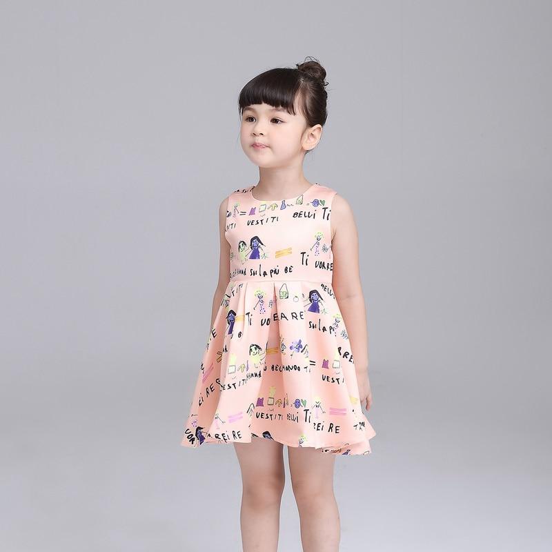 ộ ộ Kids Dress Summer Style Girls Casual Dresses A Line Cotton