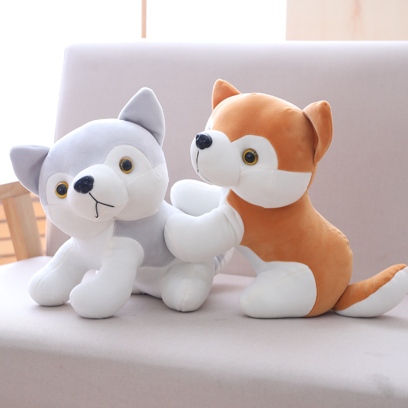 Miaoowa 30cm Cute Husky Dog Plush Toy Staffed Down Cotton Puppy Doll Kawaii Kids Toy Simulation Animal Doll Birthday Gift