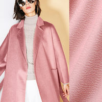 150CM Wide 610G/M Weight Water Wave Thick Blue Pink Silk Cashmere Wool Autumn and Winter Overcoat Outwear Fabric J021