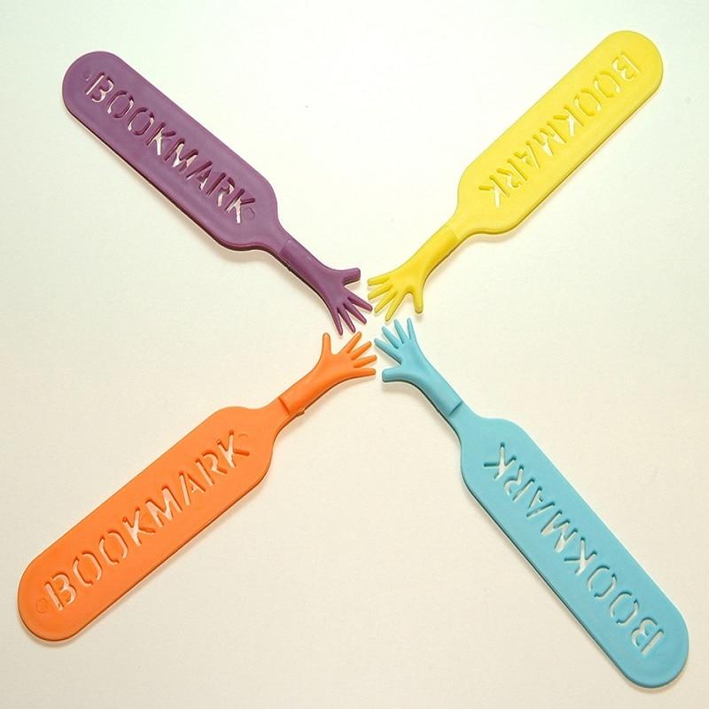 4 Pcs Funny Novelty Help Me Marker Stationery Bookmarks