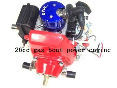 Gas powered 26cc engine for rc boat dropship hot sale free for Gas rc boat motors
