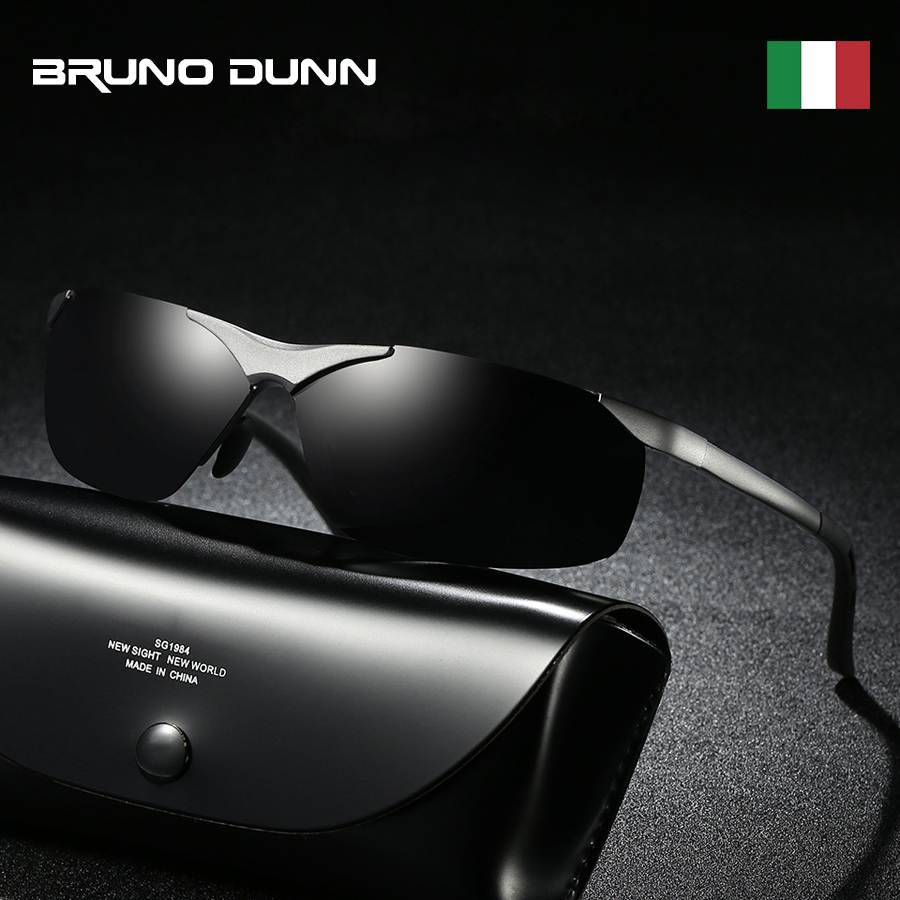 Bruno dunn 2020 Men Sunglasses Polarized uv400 high quality oculos de sol masculino oversized sunglases lunette soleil homme 1