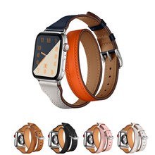 Ремешок из натуральной кожи для apple watch band 5 6 40 мм 38