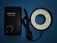 110V 240V 160 LED Lamp Microscope Light Source 40mm Inner Diameter Ring Light Illuminator for Industrial CCD Camera