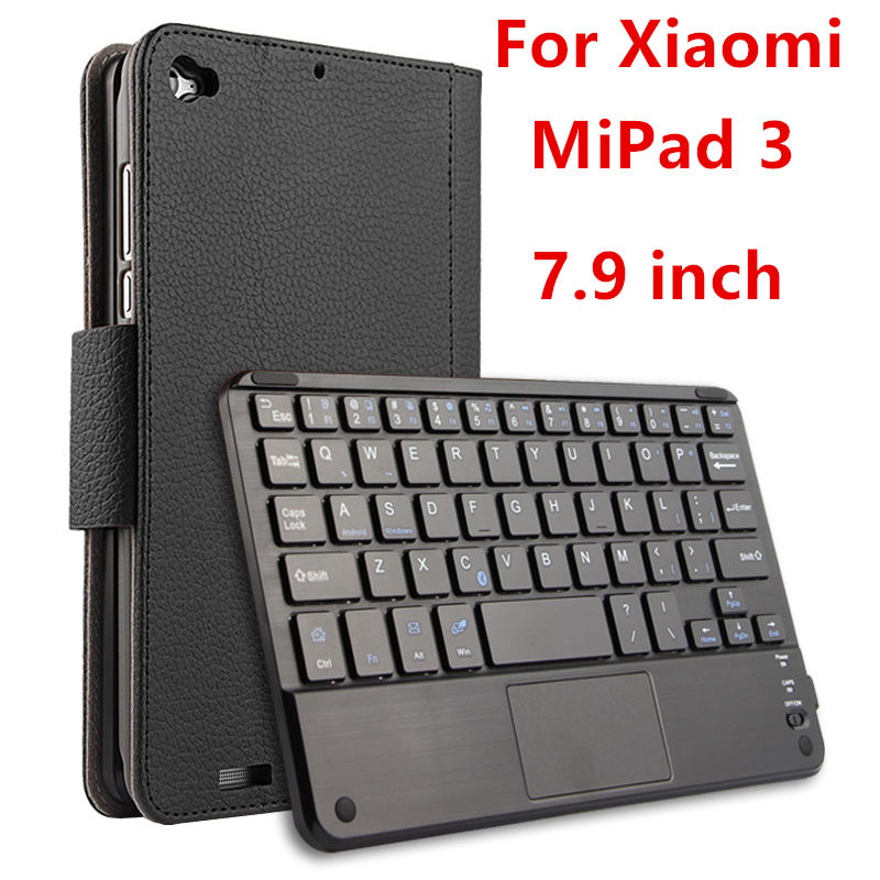 Case For Xiaomi Mi Pad 3 Mipad3 Protective Wireless Bluetooth keyboard Smart cover Leather Tablet mipad 3 2 7.9 PU Protector