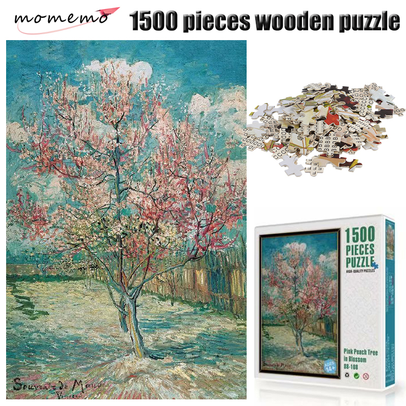 MOMEMO Reminiscence of Mauve <font><b>Jigsaw</b></font> <font><b>Puzzle</b></font> Wooden <font><b>Puzzle</b></font> Adult Famous Oil Painting <font><b>Puzzles</b></font> <font><b>1500</b></font> <font><b>Pieces</b></font> Assembling Toy Kids Gifts image