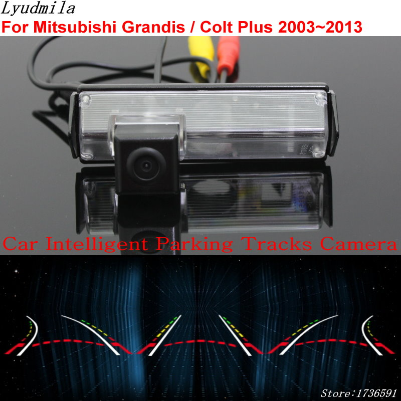 Lyudmila Car Intelligent Parking Tracks Camera FOR Mitsubishi Grandis / Colt Plus 2003~2013 Car Back up Reverse Rear View Camera for dacia duster 2010 2014 car intelligent parking tracks camera hd back up reverse camera rear view camera