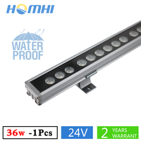 36W LED wallwasher outdoor lighitng DC24V bridge building park waterproof IP65 decorate lamp white yellow light new arrival