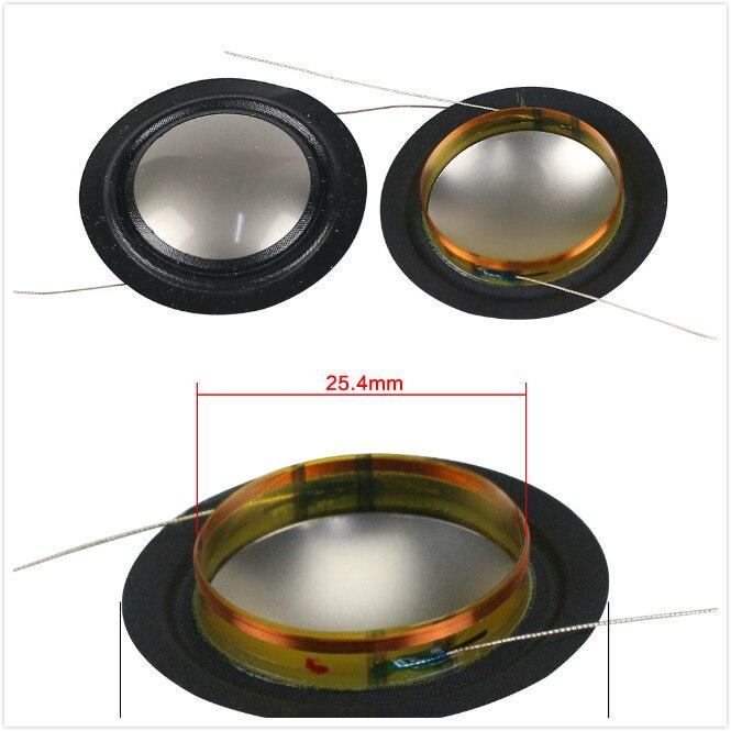 10 Stücke 25,4mm 25 Core Stimme Spule Metall Titan Membran + Seide Seite Hochtöner Lautsprecher Reparatur Teile 6-8ohm