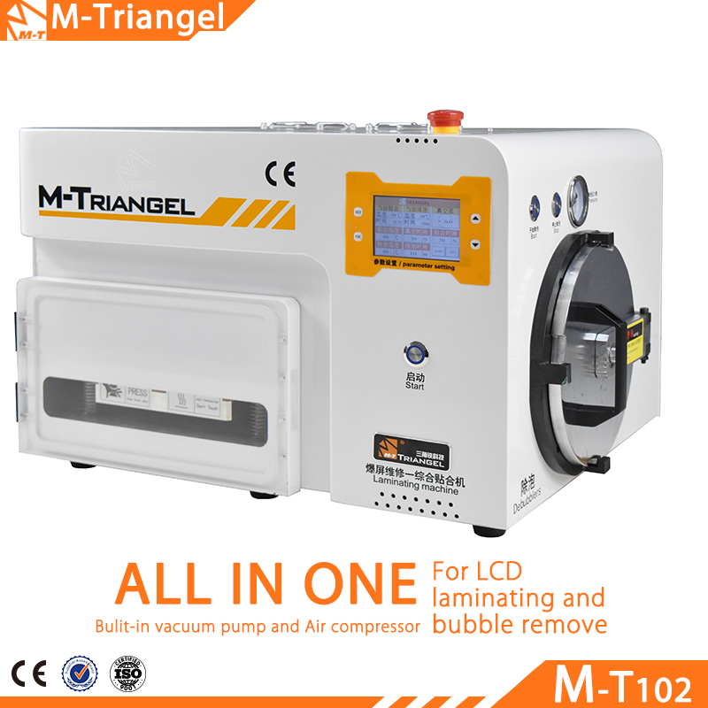 Newest MT 5 in 1 OCA Vacuum LCD Laminating Machine with Bubble Remove Function Built-in Vacuum Pump LCD Refurbish Machine 7inch ko no 1 mt 07 universal 12inch ft 12 oca film lamination machine need air compressor and vacuum pump bubble remover