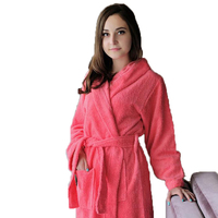 Cotton Hooded Bathrobe Women Men Sleepwear Bathrobe For Girls Blanket Towel Fleece Thickening Lovers Long Soft