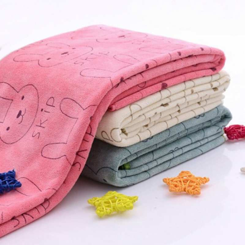 New And Lovely Baby Cute Microfiber Absorbent Drying Bath Beach Towel Washcloth Swimwear Baby Towel Cotton Kids Towel