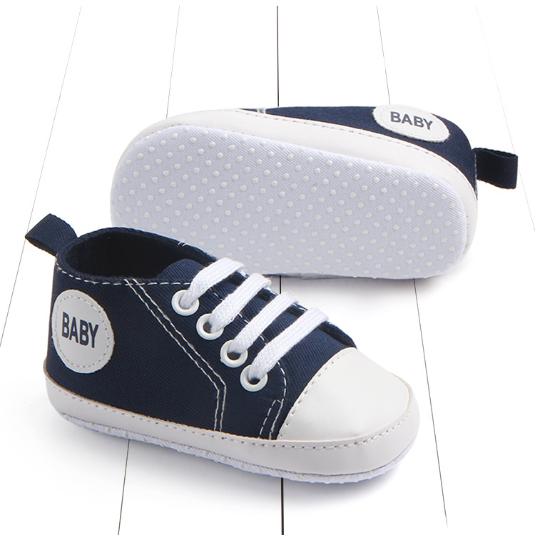 First Walkers Lovely Spring Summer Canvas Classic Sports Sneakers Newborn Baby Boys Girls First Walkers Shoes Infant Toddler Soft Anti-slip Shoes Easy To Use