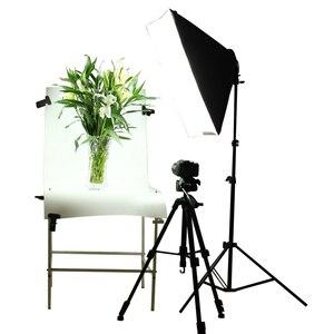Image 3 - Студийный рассеиватель для фото 50*70 см софтбокс E27 4 лампа держатель непрерывный светильник ing Soft Box комплект включает светильник с подставкой с лампами 45 Вт
