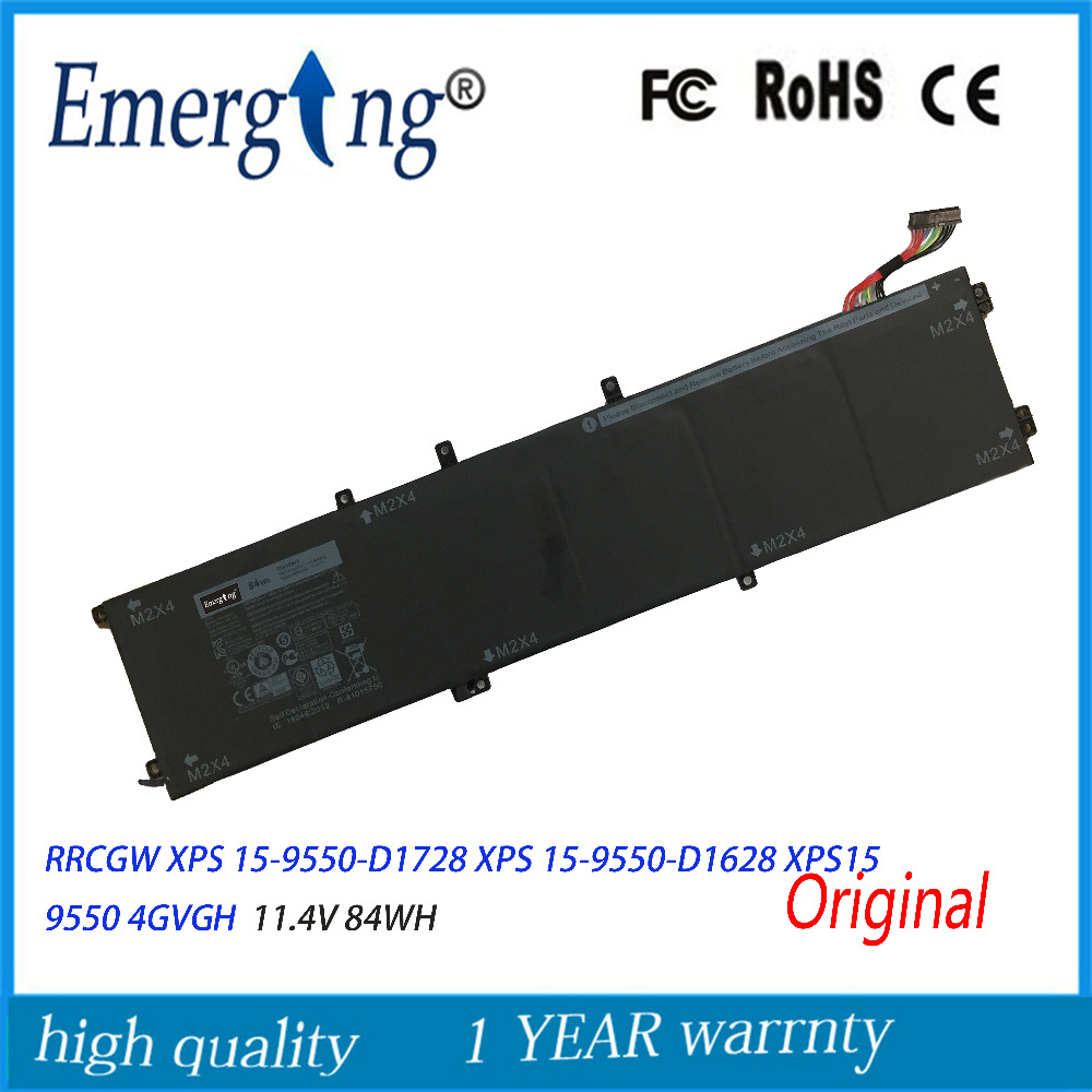 11.4v 84WH New Original Laptop Battery for Dell XPS 15-9550-D1828T 1P6KD T453X 4GVGH Precision 5510 XPS15 9550 XPS 15 7xinbox 6 cell 6710mah 7 6v 56wh laptop battery for dell xps 13 9343 9350 90v7w 090v7w jhxpy 5k9cp jd25g