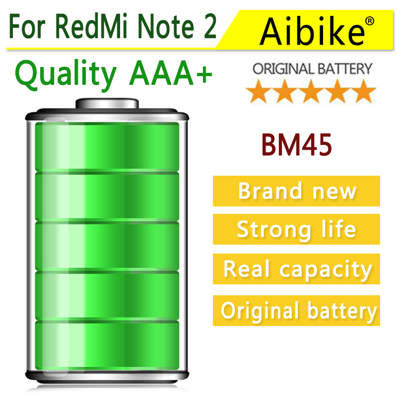 Aibike mobile phone battery 4200mAh BM45 for Xiaomi RedMi Note 2 Hongmi Note 2 Red Rice Note2 Battery High capacity