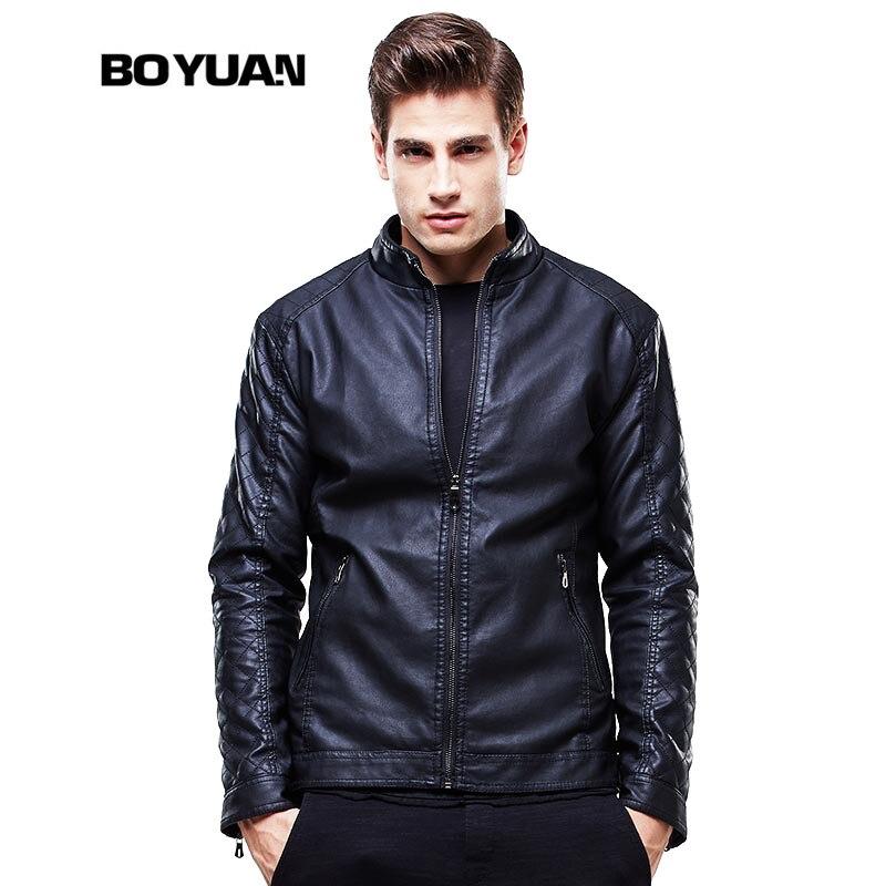 BOYUAN Leather Jacket men Jaquetas De Couro Do Inverno Dos Homens Mens Leather Overcoat Jaqueta De Couro Masculina Jackets 8602