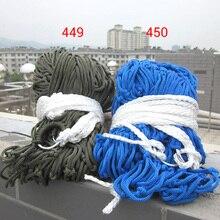 Exterior 9 strand náilon corda rede rede rede de rede interior portátil simples cadeira de balanço de rede