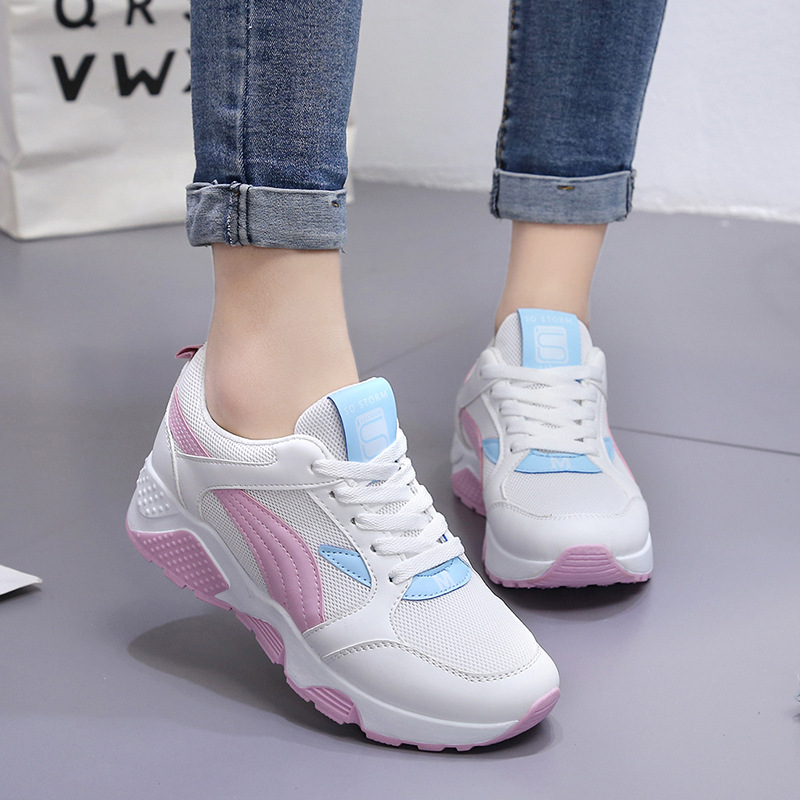 2018 Spring women sneakers oxford shoes flats running shoes women leather suede lace up boat shoes round toe flats moccasins