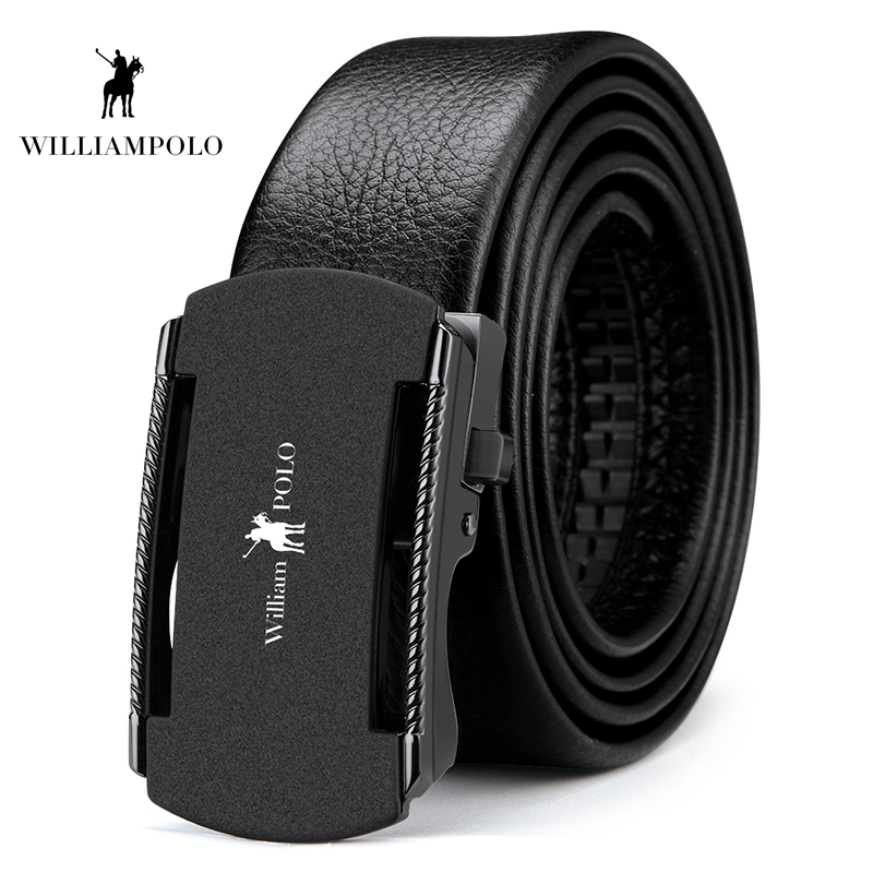 Williampolo 2019 Luxury Brand Designer Genuine Leather Strap Automatic Buckle Man Fashion Casual Waist Belt PL18303