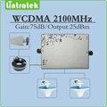 AGC/MGC 75dB Ganho reforço de sinal móvel 3G UMTS HSPA WCDMA 2100 mhz amplificador repetidor de sinal conjunto completo com a Antena e cabo