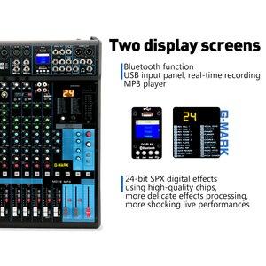 Image 2 - G MARK MG16MP3 16 ערוצים אודיו מיקסר קונסולה 24 סיביות SPX דיגיטלי אפקט 2 תצוגת Bluetooth USB טעינה + 48V פנטום כוח
