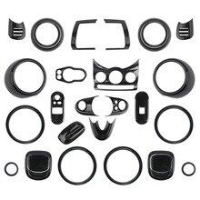 ABS углеродное волокно Печатный автомобиль Интерьер Стайлинг выход Крышка центральной консоли окна фар панель управления для Mini Cooper F56