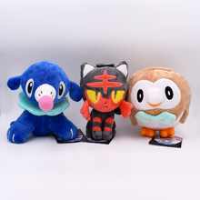 Anime Cartoon Popplio / Rowlet/Litten Plush Toys 18-20cm Soft Stuffed Animal Dolls Christmas Birthday Gifts for Children Kids