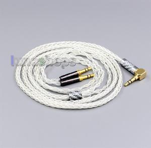 Image 2 - LN006430 99% Reinem Silber 8 Core kopfhörer Kabel Für Denon AH D600 D7100 Hifiman Sundara Ananda HE1000se HE6se he400i he400se Arya