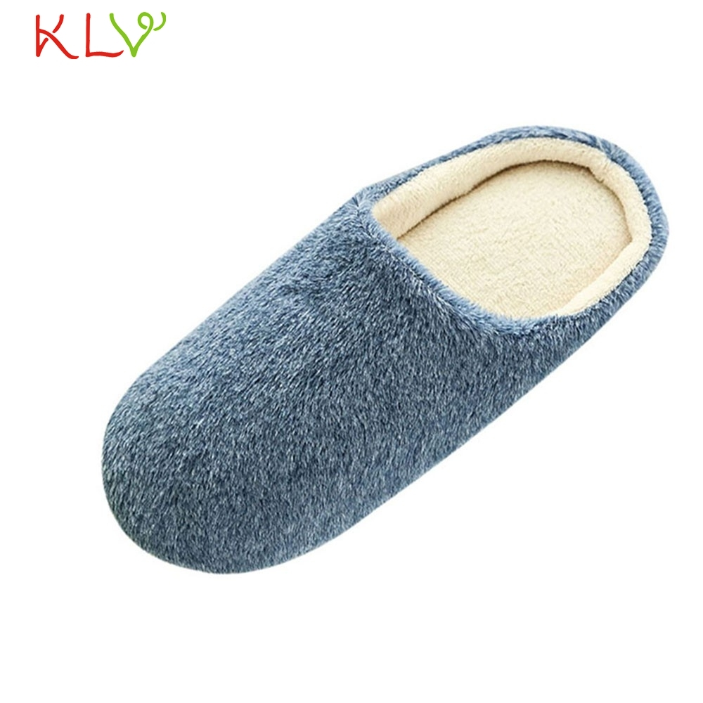 Slippers Women 2018 Interior House Plush Soft Cute Cotton Slippers Shoes Non-slip Floor Furry Slippers Shoes For Bedroom 18Dec4