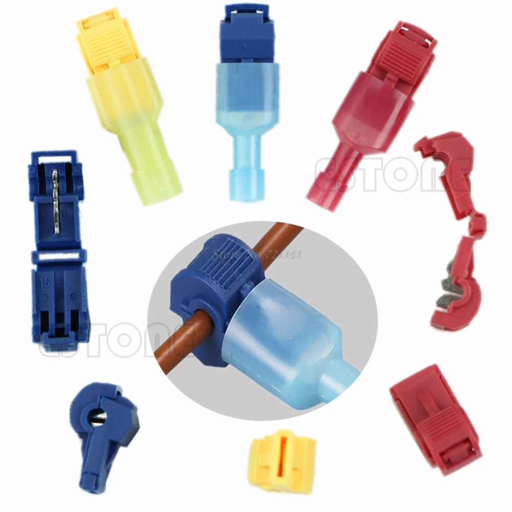 10Pcs Electrical Scotch Wire Terminals Crimp Cable Snap Connectors Quick Splice