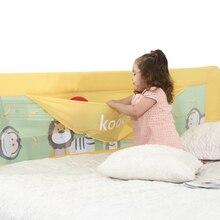 Экспорт Детская кровать raail ограждение детская кроватка безопасной колыбель забор 150 см 180 см 200 см размер желтый кахи белый цвет изображением животного игрушка