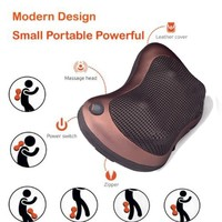 Home Car Two Use Vibrating Infrared Heating Massage Pillow Neck Cervical Traction Pain Relief Relax Massage