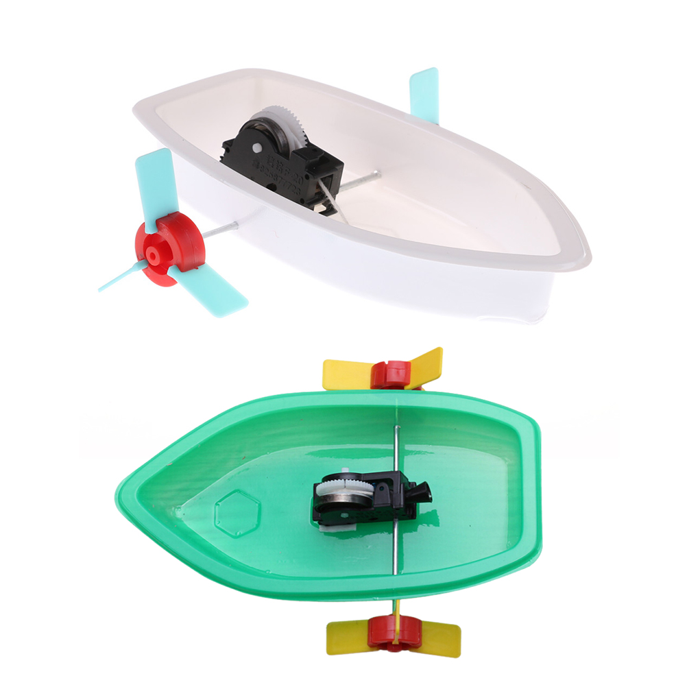 1PCS Plastic Science Technology Experiment DIY Educational Boat Toys Learning Gifts Model Building Kits Baby Toys
