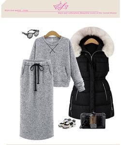 Image 5 - Комплект из худи с юбки Echoine женский с карманами и кружевами