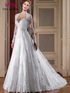 Image 2 - อาหรับดูไบแขนยาวเย็บปักถักร้อยชุดแต่งงานสีขาวสี Vintage Lace Wedding Dresses 2019 ชุดเดรส Custom Made Plus ขนาด w0112