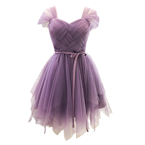 Image 5 - Bridesmaid Dresses Purple Cheap Girl Short Bridesmaid Dress White Pink Grape For Wedding Guests Sister Plus Size Party Dress