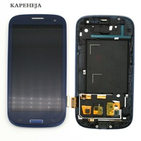 Can adjust brightness LCD For Samsung Galaxy S3 I9300 LCD Display Touch Screen Digitizer Assembly with Frame