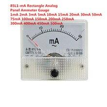 10ma 20ma 10ma 20ma 50ma 100ma 200ma 300ma medidor do ampère do painel analógico do escudo plástico branco da c.a. 85-l1-ma
