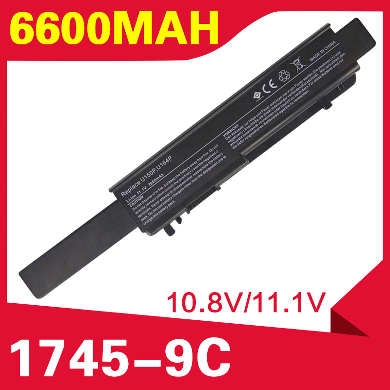 ApexWay Laptop Battery For Dell Studio 17 1745 1747 1749  M909P N855P N856P U150P U164P W080P Y067P