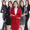 Winter women Elegant skirt suits Ladies office work wear OL blazer suits office uniform designs style business coat suits